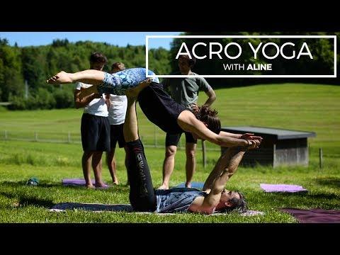 Acro-Yoga, the yoga of trust with Aline