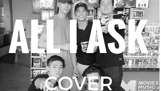 all i ask adele cover by russell reyes feat bradyn joao and ethan
