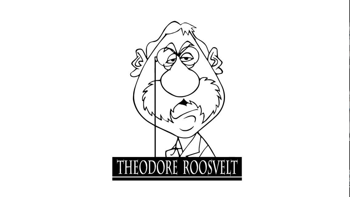 How To Draw Theodore Roosevelt Youtube