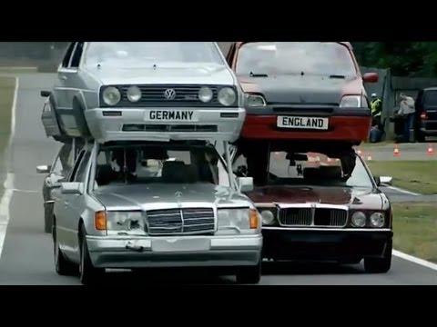 Top Gear vs The Germans Part 1 - Double Decker Racing - Series 11 - BBC