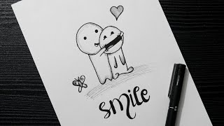 pen easy doodle smile drawing draw faces