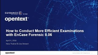 How to Conduct Efficient Examinations with EnCase Forensic 8 06