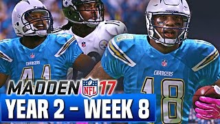 Madden 17 Chargers Franchise Year 2 - Week 8 vs Steelers - Ep.31