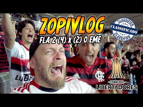 Flamengo 2 (4) X (2) 0 Emelec - Libertadores 2019 - ZOPiVLOG