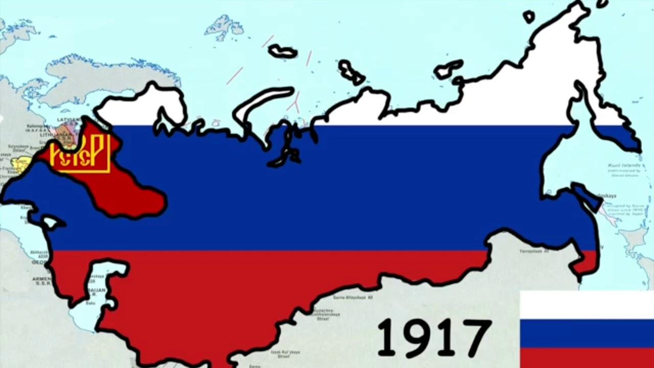 History Of Russia 1918 2018 Map Istoriya Na Rusiya 1918 2018
