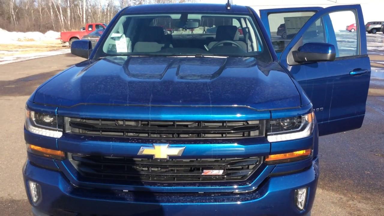 2017 Chevrolet Silverado Lt Blue Crew Cab Z71