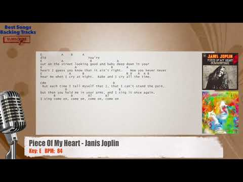Piece Of My Heart - Janis Joplin Vocal Backing Track with chords and lyrics