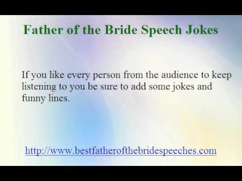 Father of the Bride Speeches Jokes