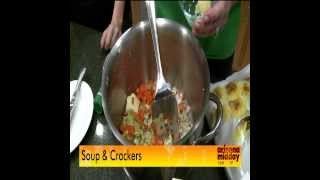 Ginger Lemongrass Chicken Soup With Buttery Cheese Cracker