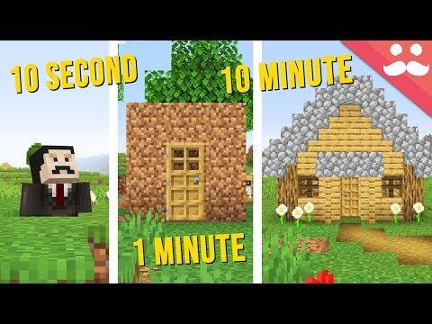 SURVIVAL STARTER BASE: 10 Minute, 1 Minute, 10 Second!