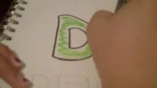 Drawing Dr.Pepper Sign