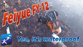 Feiyue FY12 1:12 Amphibious Truck Review | It's waterproof and can ice skate