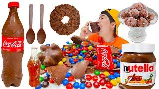 Mukbang 갈색디저트먹방 Brown Food Mukbang 젤리 IceCream 초콜릿 Chocolate 캔디 Maltesers 색깔먹방 Choco BigPie JJAEMI째미