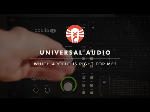 Which Universal Audio Apollo Is Right For Me?