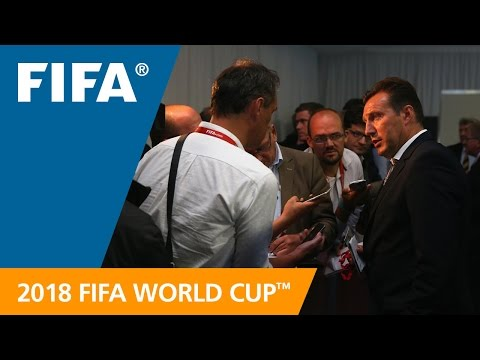 Marc Wilmots (Belgium) REACTION: World Cup Preliminary Draw