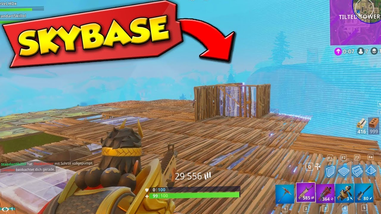 fortnite how to build a skybase
