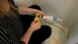 Oprava silikonové spáry ve sprchovém koutě