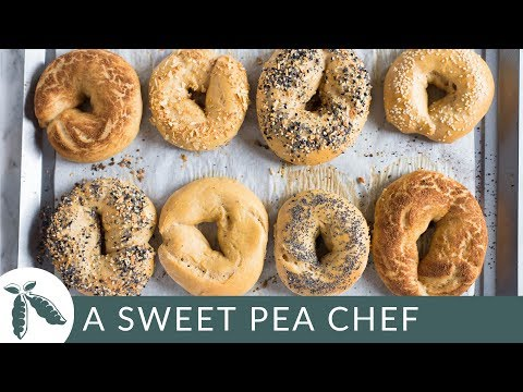 Homemade Bagel Recipe | Make It Healthy | A Sweet Pea Chef