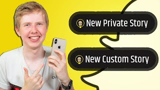 Snapchat Stories Update (New Stickers and Invite to Private and Custom Stories)