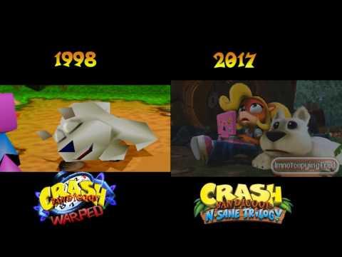 Crash Bandicoot N Sane Trilogy - All Intro Cutscenes Comparison