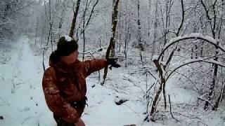 Удачная охота на лису зимой 2017