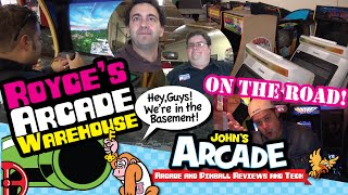 John Tours Royce's Arcade Warehouse In Chatsworth, Ca - Vintage Arcade Superstore