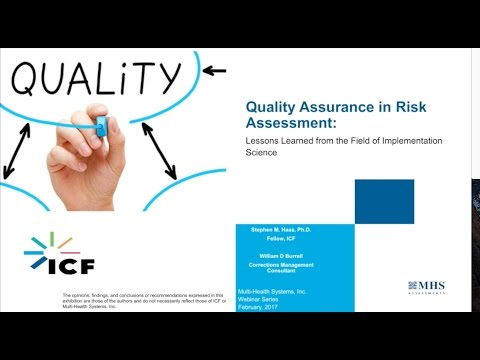 Quality Assurance in Risk Assessment
