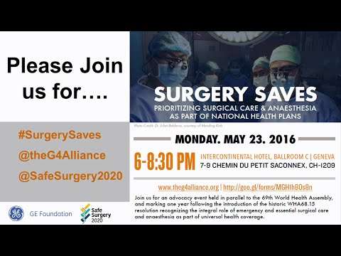 The G4 Alliance - #SurgerySaves