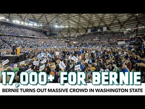 Bernie Turns Out 17,000+ People In Washington State Event