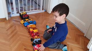 Berat Şimşek Mcqueen, Bebe Mcqueen, İtfaiye ve Yarış Arabası ile Oynadı