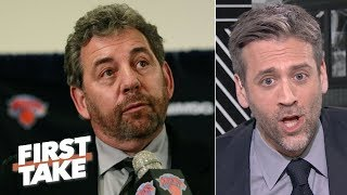 'You're so thin-skinned, you're so insecure!' - Max Kellerman to James Dolan | First Take