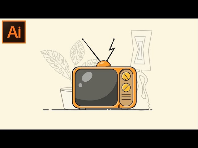 Adobe Illustrator CC Tutorial - How to Make a Beautiful Looking Flat T.V Illustration