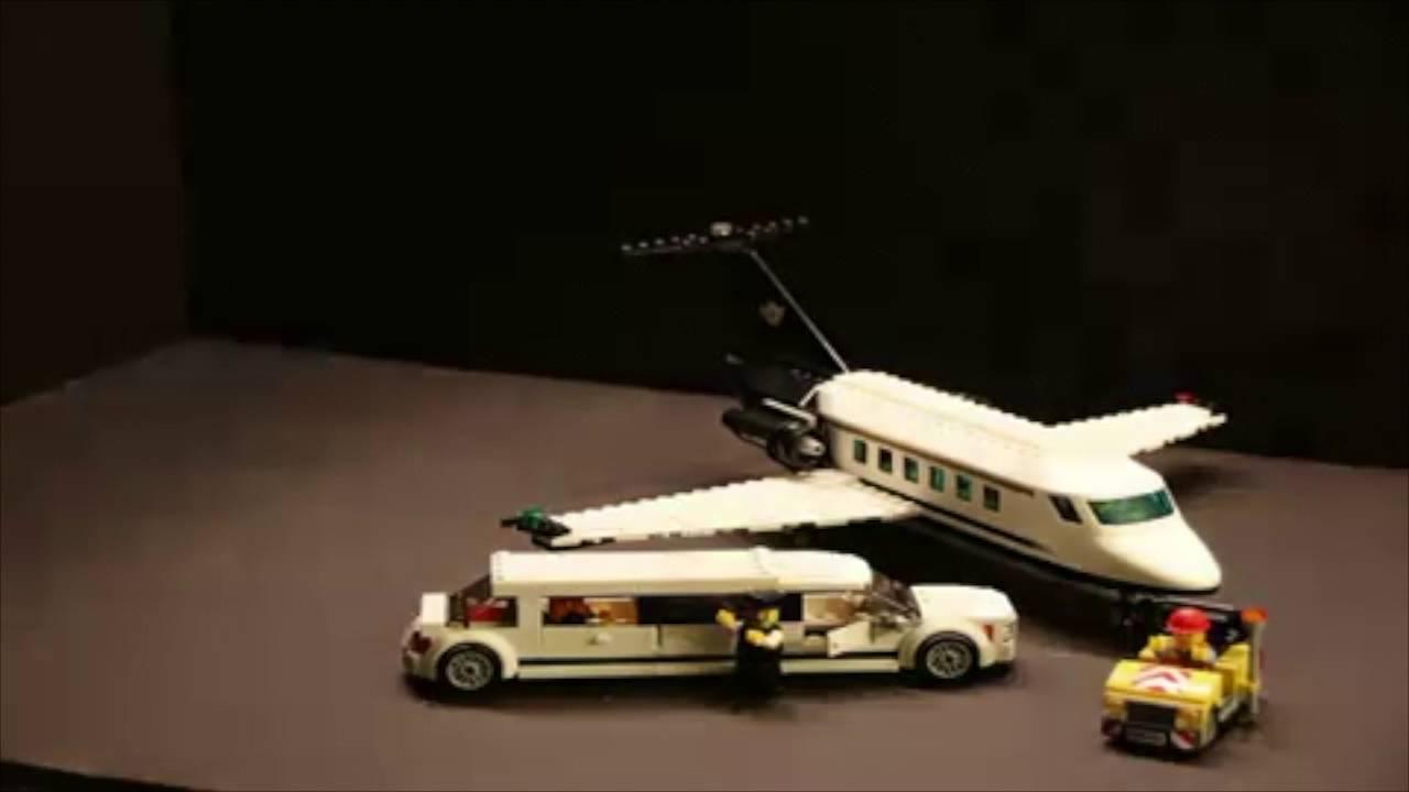 Jet Privato Lego : Lego private jet and limo movie youtube