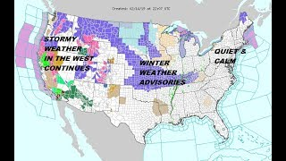 Winter storm warnings northeast midwest and west