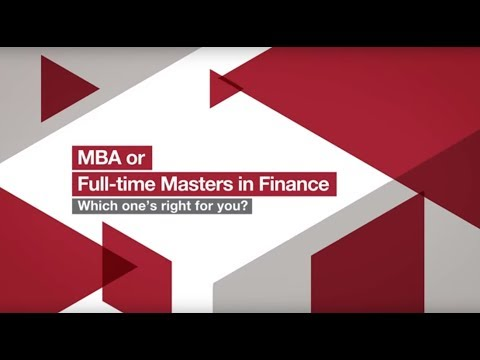 MBA or Masters in Finance - Which one's right for you? | London Business School