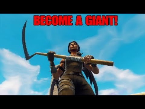 How to become *GIANT* in Fortnite battle royale! Fortnite glitches