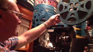 John showing us how he loads his 16mm film reel projector :)