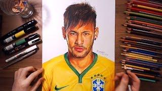 Neymar Júnior - speed drawing | drawholic