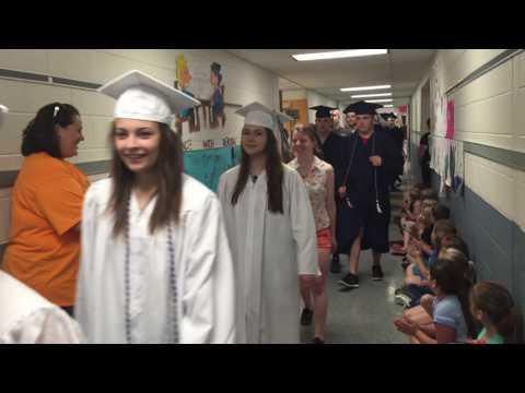 Philipsburg Osceola Mills Elementary School 2016 Senior Graduate Walk