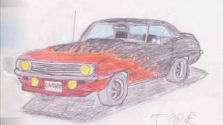 Chevrolete Camaro 69 Drawing