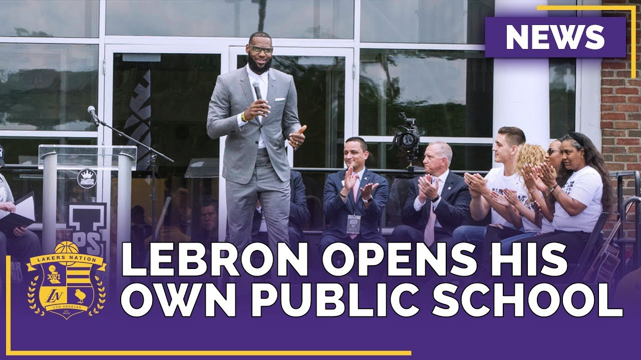 db1b0bda9f82 Lakers News  LeBron James Opens the  I Promise School  in His Hometown of  Akron
