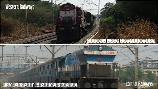 Indian Railways Central Railways And Western Railways Diesel Actions Compilations