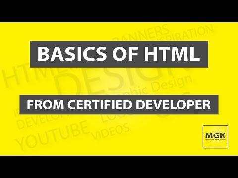 Basics of HTML Tutorial 2 thumbnail