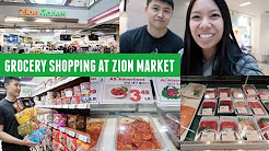 Grocery Shopping at a Korean Grocery Store - Zion Market