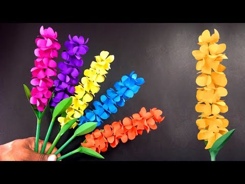 How to make Beautiful lavender paper flowers | Handmade Gift Ideas : Very Easy DIY Crafts