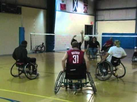Wheelchair Volleyball Sure Fit Slipcover Chair 1 17 2011 Youtube