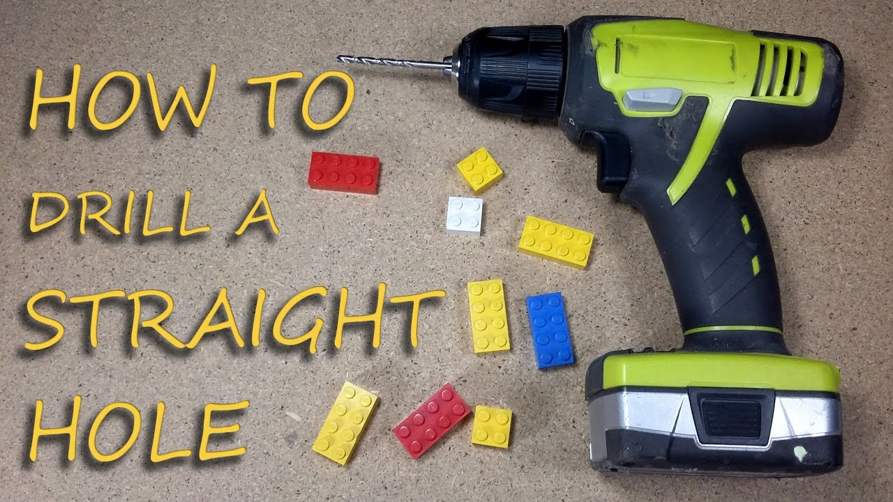 Jig For Drilling Straight Holes Simple Diy Lego Trick