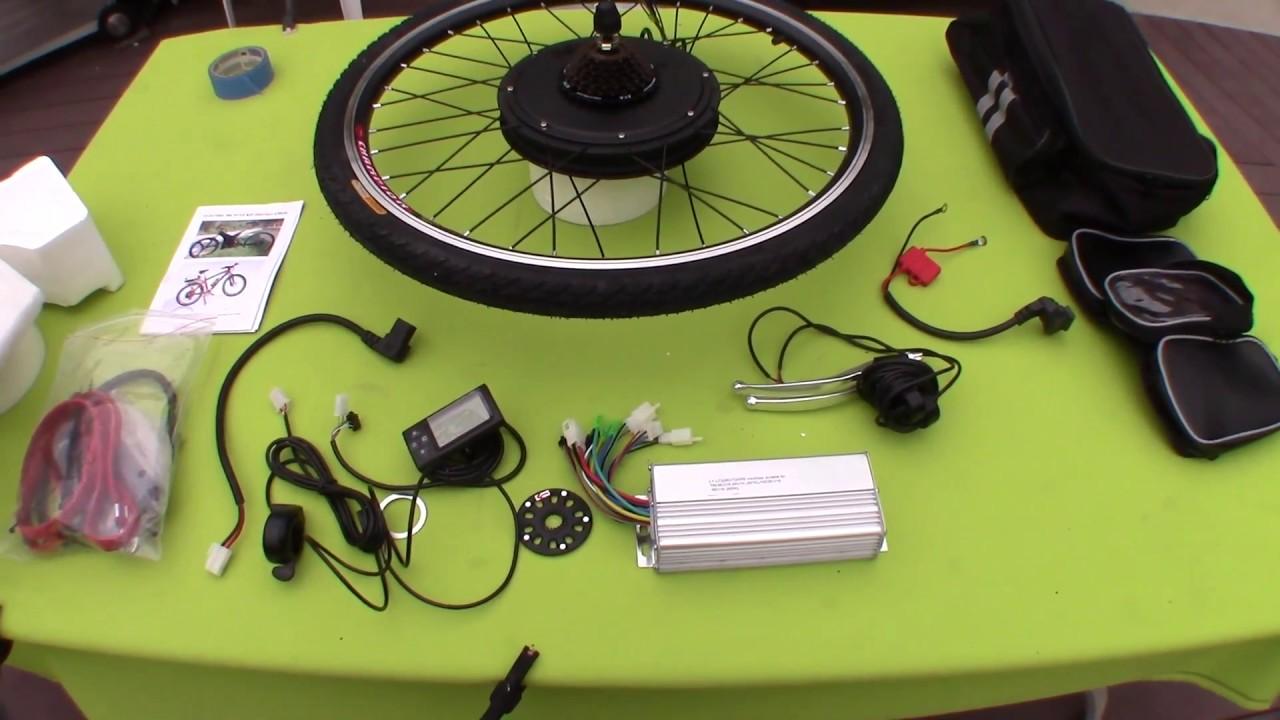 48 Volt Battery >> $216 1000 Watt 48 volt Ebike Conversion Kit w/LCD Display (BATTERIES and TORQUE ARMS NOT ...