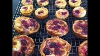 Raspberry And White Choc Chip Custard Pies -simpley Cooking