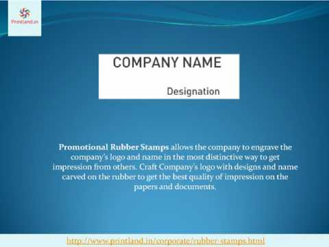 Promotional Rubber Stamps Buy Corporate Rubber Stamps Online in India